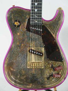 Lot:2081: Girl Brand Electric Guitar by James Larson,, Lot Number:2081, Starting Bid:$500, Auctioneer:Leland Little Auctions, Auction:2081: Girl Brand Electric Guitar by James Larson,, Date:09:00 AM PT - Nov 5th, 2006