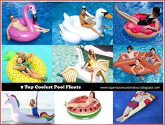 These incredible giant floats are great for the pool, lake or beach and will spice up the summer fun with your friends and family. Enjoy!