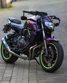 Yamaha MT-07 Yamaha Mt 125, Yamaha Fz, Yamaha Bikes, Best Motorbike, Bobber Motorcycle, Motorcycle Design, Mt Bike, Bike Pic, Bobbers