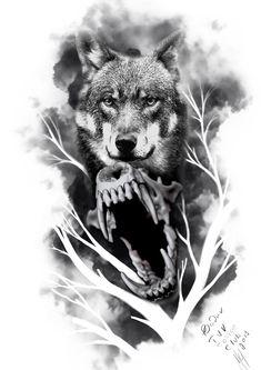 Wolf Face Tattoo, Werewolf Tattoo, Wolf Tattoos, Animal Tattoos, Lion Tattoo Sleeves, Wolf Tattoo Sleeve, Sleeve Tattoos, Gangsta Tattoos, Badass Tattoos