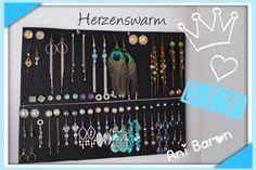 Schönes Wand Aufbewahrung System für Eure Ohrringe :) http://youtu.be/Mpw5fwK0NwE
