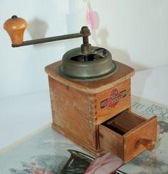 Small wooden decorative hand coffee grinder door HomiArticles