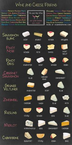You know you need these wine and cheese pairings in your life! #WineWednesday #appetizers #wineparty