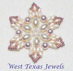 PDF Pattern- Snowflake #10 Beaded Ornament Pattern | Westtexasjewels - Patterns on ArtFire ~ New ornament for 2016 ~T.D.'16