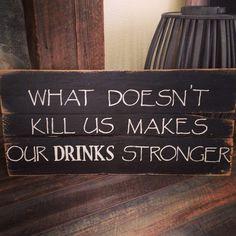 Reclaimed Wood Bar Sign