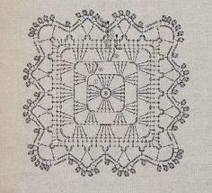 Δαντελένια τετράγωνα coasters -Granny square coasters with lace ending Crochet Motif Patterns, Coasters, Crafty, Stitch, Knitting, Lace, Inspiration, Hobby, Embroidery