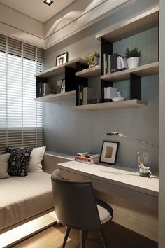 Sidewall, sofa bed n desk..nice corner detail