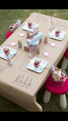 Darling party table