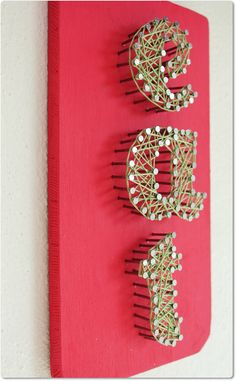 Eat & Cook Modern String Art by mintiwall on Etsy, $40.00