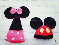 Sombrero de gomaespuma : Minnie y Mickey Mouse