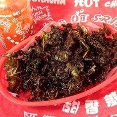 """Sriracha-Lime Kale Chips 