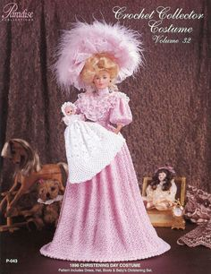 1896 Christening Day Costume for Barbie Paradise Vol. 32 Crochet PATTERN NEW