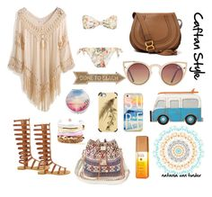 Summercaftan by natania-van-tonder on Polyvore featuring polyvore, fashion, style, Miu Miu, Chloé, Domo Beads, Quay, Casetify, Alterna, Dot & Bo, Bohemian, beachwear, caftan and caftanstyle