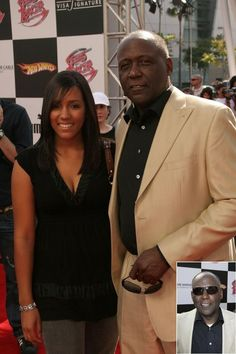 ACTOR RICHARD ROUNDTREE AND DAUGHTER, MORGAN--- AT PREMIERE