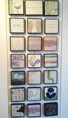 love these little art prints with cute sayings! look so cool as a frame gallery, too!