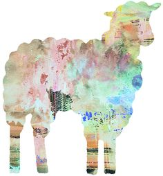 Sheep Watercolor 11x14 Art Print by whimsicalgallery on Etsy