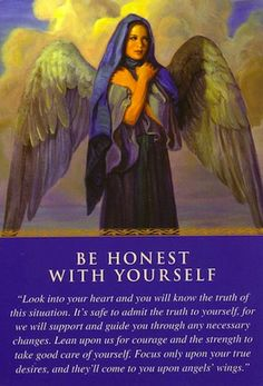 You received this card as a gentle confrontation because the angels know you've been hiding from your true feelings... (click image to keep reading)