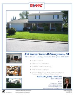 330 Vincent Drive  in McSherrystown, PA Open Sunday, November 10th from 1-3