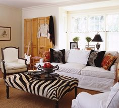 Someday When The Kids Are All Grown Up White Couches With Animal Print Ottoman Beautiful