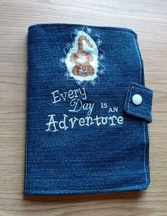 Kitty Cats Denim Cover Mini Composition, Notebook Cover, Journal, Jacket, Bible Cover, Reusable by DenimDelightsByLinda on Etsy