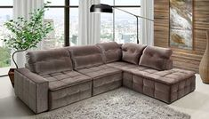 {title} (com imagens)   Sofá de canto, Sofá sala de estar ...