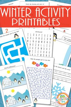*FREE* Winter Activity Printables