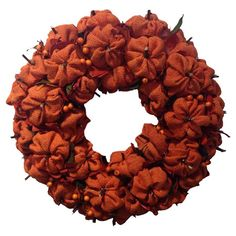 Found it at Wayfair - Burlap Pumpkin Wreath