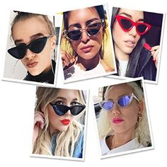 Sexy Sunglasses For Women Girl Cat Eyes Style Retro Quality Protection Fashion #JUCOO #Vintage7689