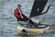 TIWAL is the very first high performance inflatable sailing dinghy, it is convenient to store and easy to use. The versatile Tiwal can be operated alone or in pairs, it measures 10,4ft(3,20m) when fully inflated and comes with a 7.00sqm sail. The hul