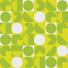 "Muster ""Green dots"" © irenezs, Schöner Mix aus Pegman + 60s-Tapete"