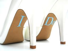 I Do Something Blue Gorgeous Glitter Shoe by yourethatgirldesigns, $7.95
