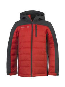The quilted polyfil and softshell in the Boys' Citrus Softshell Hybrid Jacket will adapt to every activity he gets into.