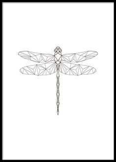Geometric Dragonfly, poster ryhmässä Julisteet ja printit / Koot / @ Desenio AB With hubby & kids names hidden in the wings Geometric Drawing, Geometric Shapes, Geometric Poster, Boli 3d, Stylo 3d, Cuadros Diy, Dragonfly Tattoo, 3d Pen, Pen Art