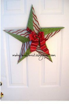 CHRISTmas Star  I would do this with wrapping paper or scrapbooking paper, and why just do it for CHRISTmas time? You could do it for any time of the year, if you used pretty paper....