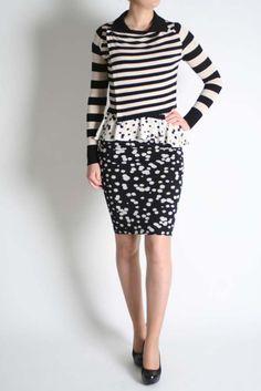 Isabel De Pedro Stripey Cardigan Skirts, Fashion, Moda, Fashion Styles, Skirt, Fashion Illustrations, Gowns, Skirt Outfits