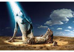 """""""Rising from the Stone"""" - Metamorphose: Die aufgehende Sonne, die die versteinerte Frau zum Leben erweckt."""