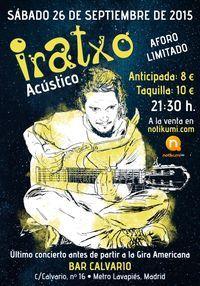 Concierto de Iratxo en Madrid en Bar Calvario, Madrid