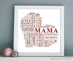 Pamiątkowy obrazek prezent na Dzień Mamy. - roanstudio - Pozostałe