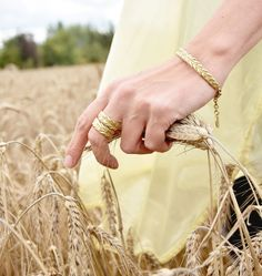Natural inspiration, bracelet and rings from BERY collection by Anna Orska.