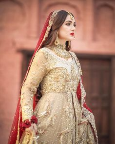 Image may contain: one or more people and wedding Asian Wedding Dress Pakistani, Pakistani Bridal Makeup, Pakistani Wedding Dresses, Pakistani Outfits, Indian Dresses, Pakistani Models, Pakistani Actress, Indian Outfits, Bridal Lehenga Collection