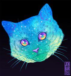 Explosão de cores psicodélicas na série 'Galactic Cats', de Jen Bartel – Página 2 – Ideia Quente