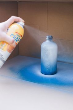 #ad learn how to use Original Plasti Dip @plastidipintl to make these DIY shower bottles with blue and white marbling! And try Plasti Dip Craft for an ombre effect for a soap bottle. This easy DIY is great for upcycling old pump bottles and customizing non-skid bottles for the bathroom. Learn how on jojotastic.com #AD #dipheadsunite #plastidip #DIY #custom #diycraft #handyproject