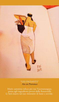 """Les passants"" by Riccardo Guasco, via Behance"