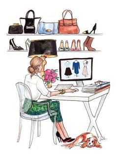 Me at work researching trends or blogging!!