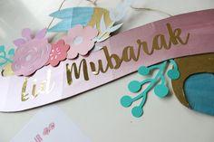 Eid crafts! DIY Eid Mubarak Ribbon Banner – Free Printable!