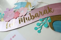 Eid crafts! DIY Eid Mubarak Ribbon Banner – Free Printable!