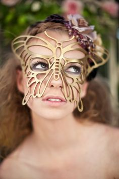 Butterfly mask.