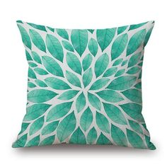 African and Bohemian Style Throw Pillow Covers Cushion Covers, Throw Pillow Covers, Cushion Pillow, Design Digital, Linen Sofa, Bohemian Pillows, Printed Linen, Cushions On Sofa, Leaf Prints