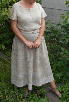Юбка-макси вязаная женская  летняя