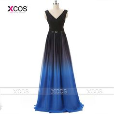 Find More Prom Dresses Information about Ombre Prom Dress V Neck Chiffon Pleated 2016 Robe De Soiree Longue Lace up Evening Gowns Real Photo Long Party Dresses SA197,High Quality dress outlet,China dress chain Suppliers, Cheap dress rihanna from XCOS Wedding Dresses Co.,Ltd on Aliexpress.com
